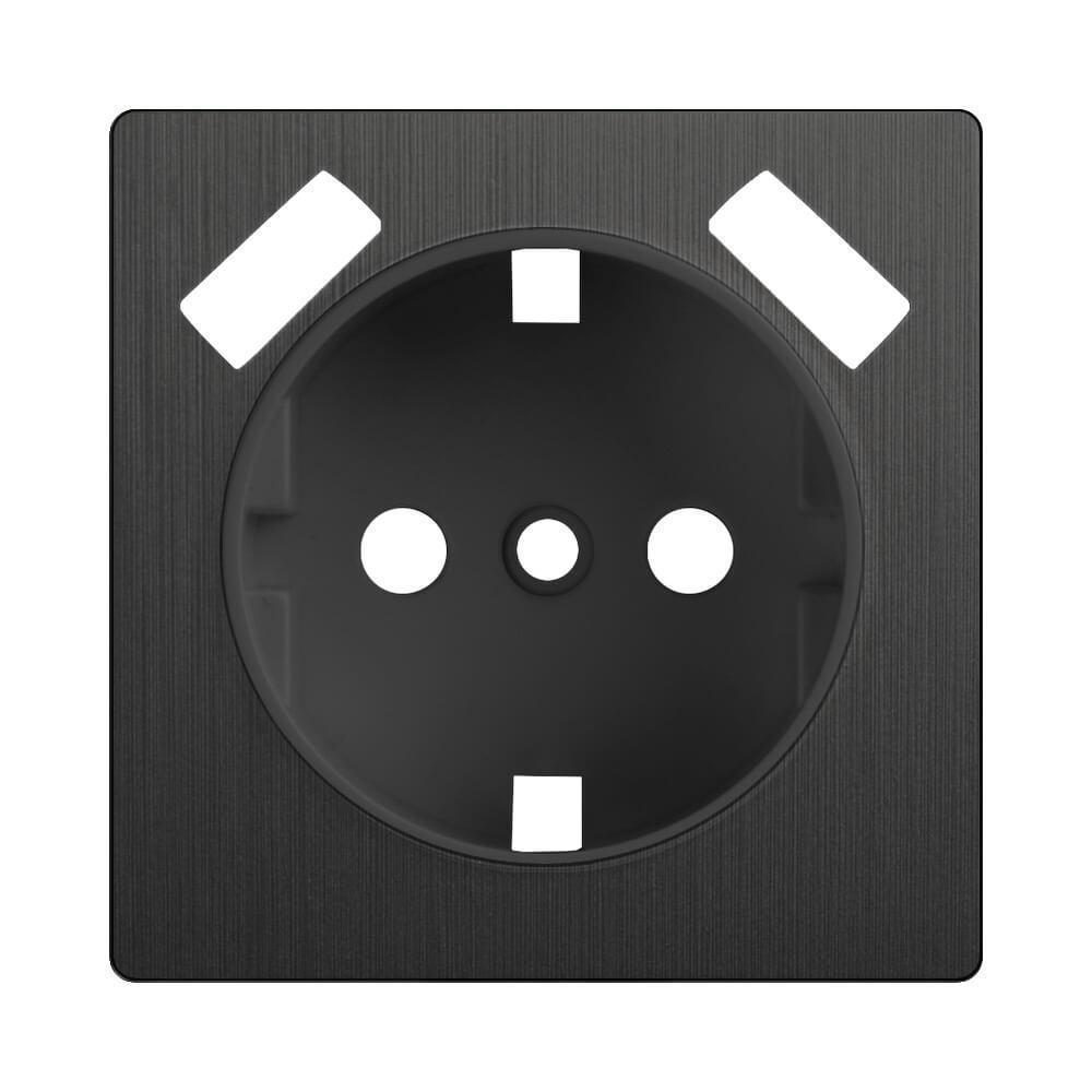 Накладка Werkel для розетки USB Графит рифленый WL04-USB-CP 4690389145964