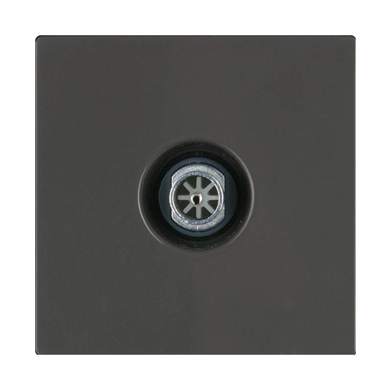 ТВ-розетка оконечная Werkel серо-коричневая WL07-TV 4690389086724