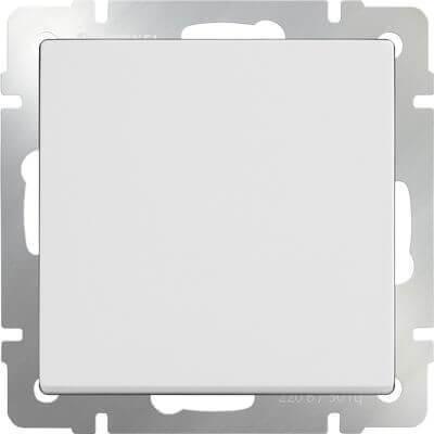 Выключатель Werkel одноклавишный проходной белый WL01-SW-1G-2W 4690389045547