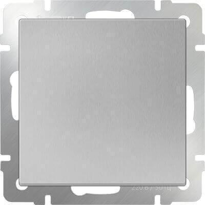 Выключатель Werkel одноклавишный проходной серебряный WL06-SW-1G-2W 4690389053825