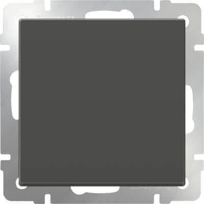 Выключатель Werkel одноклавишный проходной серо-коричневый WL07-SW-1G-2W 4690389053986