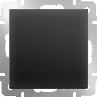 Выключатель Werkel одноклавишный черный матовый WL08-SW-1G 4690389054136