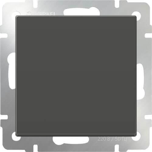 Перекрестный переключатель Werkel одноклавишный серо-коричневый WL07-SW-1G-C 4690389073601
