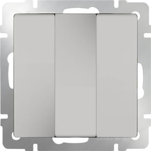 Выключатель Werkel трехклавишный слоновая кость WL03-SW-3G-ivory 4690389073434