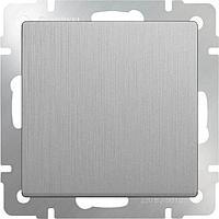 Выключатель Werkel одноклавишный проходной серебряный рифленый WL09-SW-1G-2W 4690389085116
