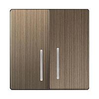 Набор клавиш Werkel для выключателя двухклавишного с подсветкой бронзовый WL12-SW-2G-LED-CP 4690389100550