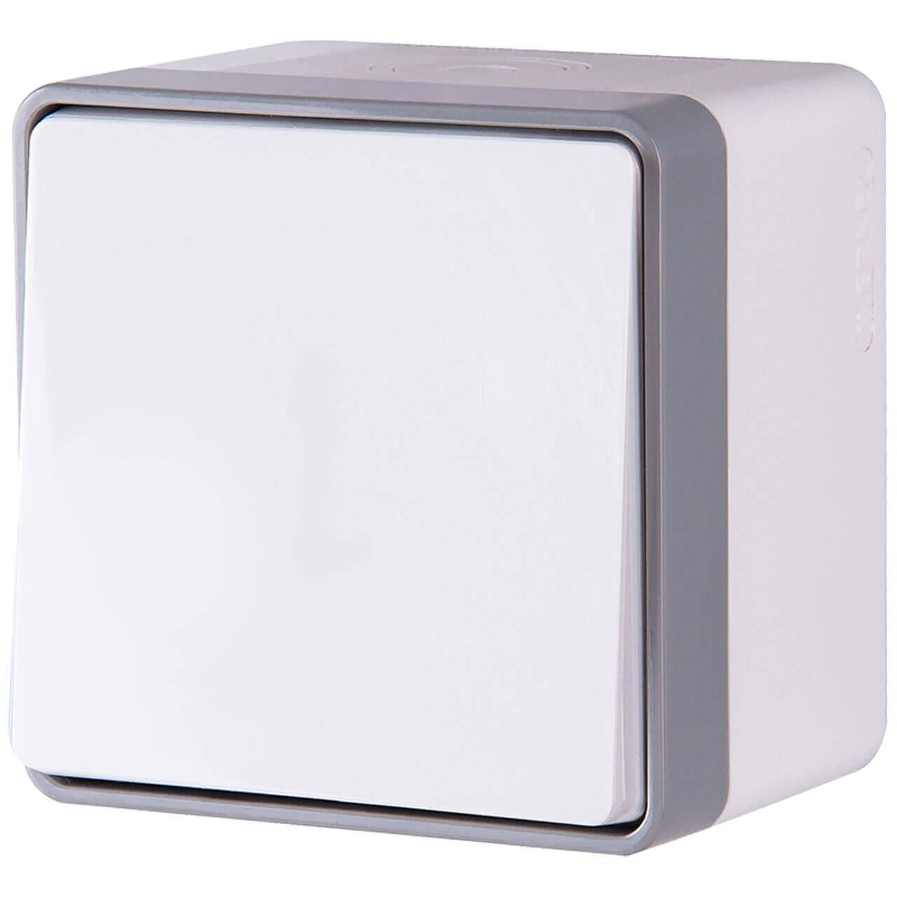 Выключатель Werkel одноклавишный влагозащищенный Gallant белый WL15-01-02 4690389102158