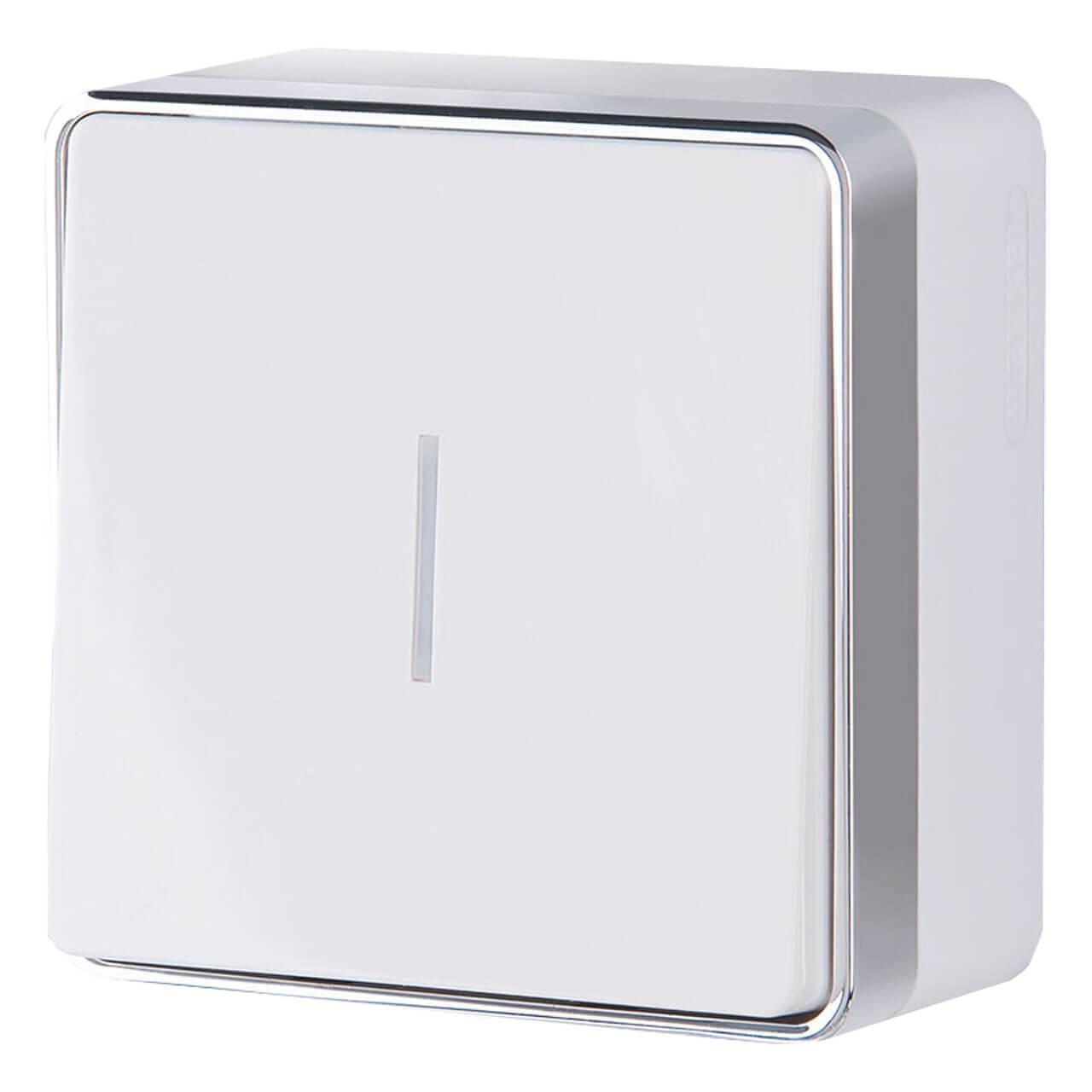 Выключатель Werkel одноклавишный с подсветкой Gallant белый WL15-01-04 4690389102066