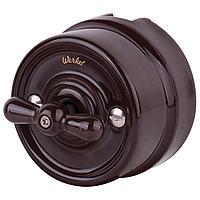 Переключатель Werkel одноклавишный Retro коричневый WL18-01-03 4690389100680
