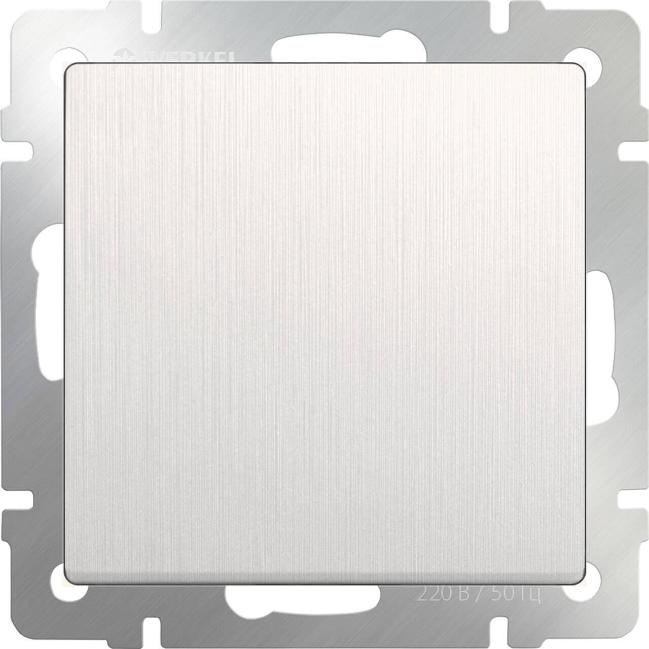 Выключатель Werkel одноклавишный перламутровый рифленый WL13-SW-1G 4690389124365