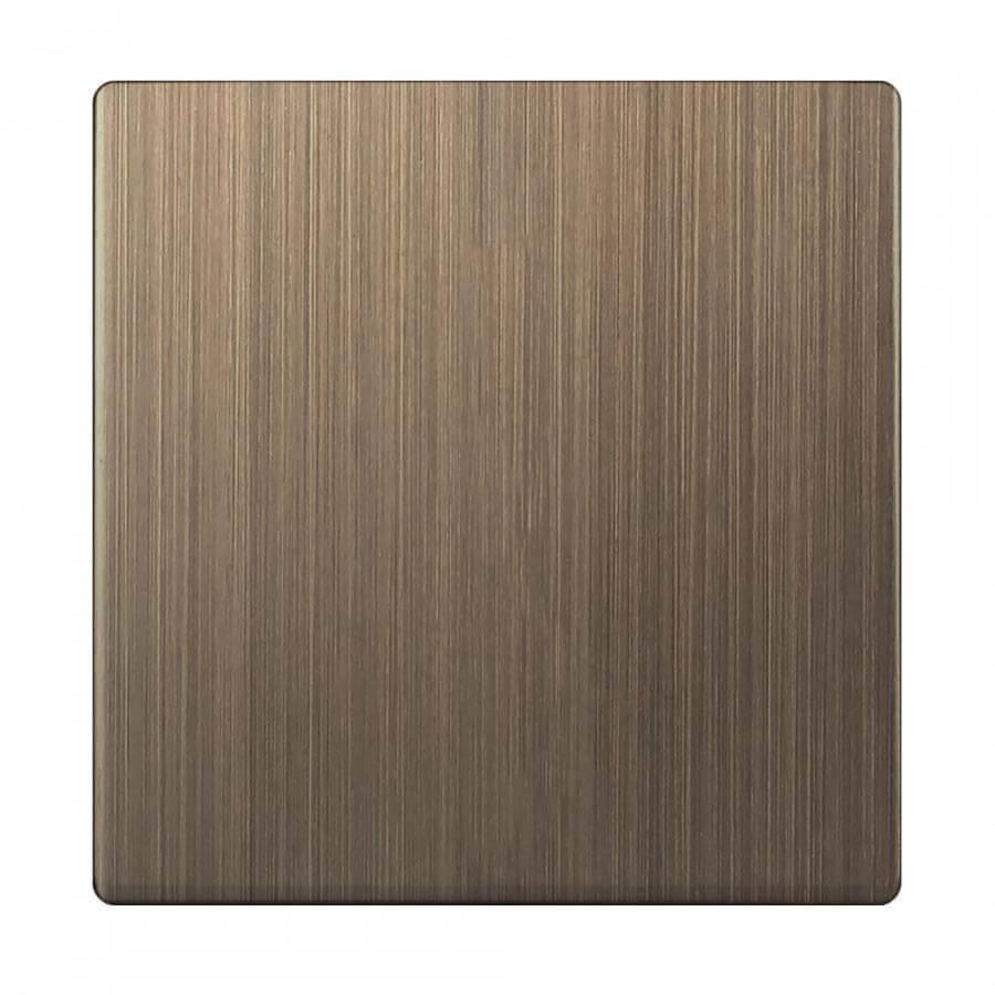 Лицевая панель Werkel выключателя одноклавишного бронзовый WL12-SW-1G-CP 4690389100512