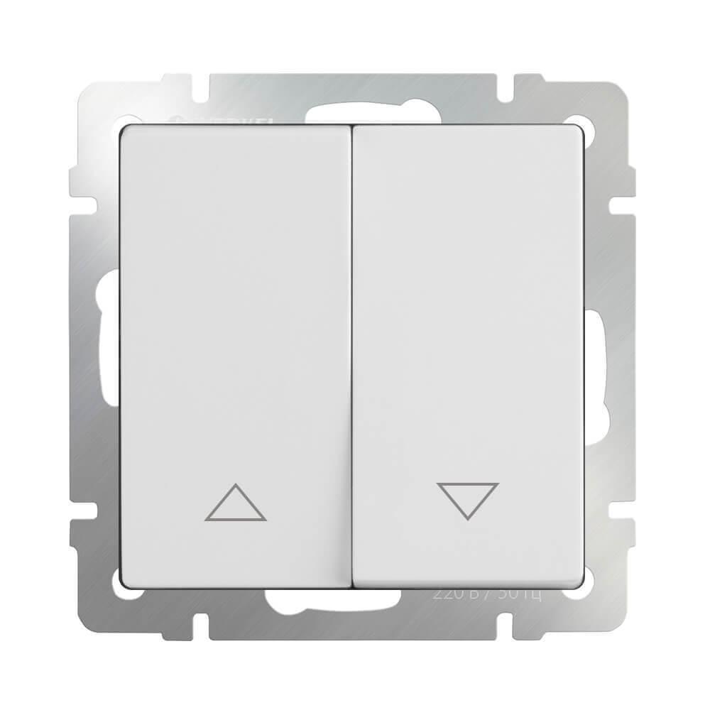 Выключатель для жалюзи Werkel WL01-01-02 белый 4690389128462