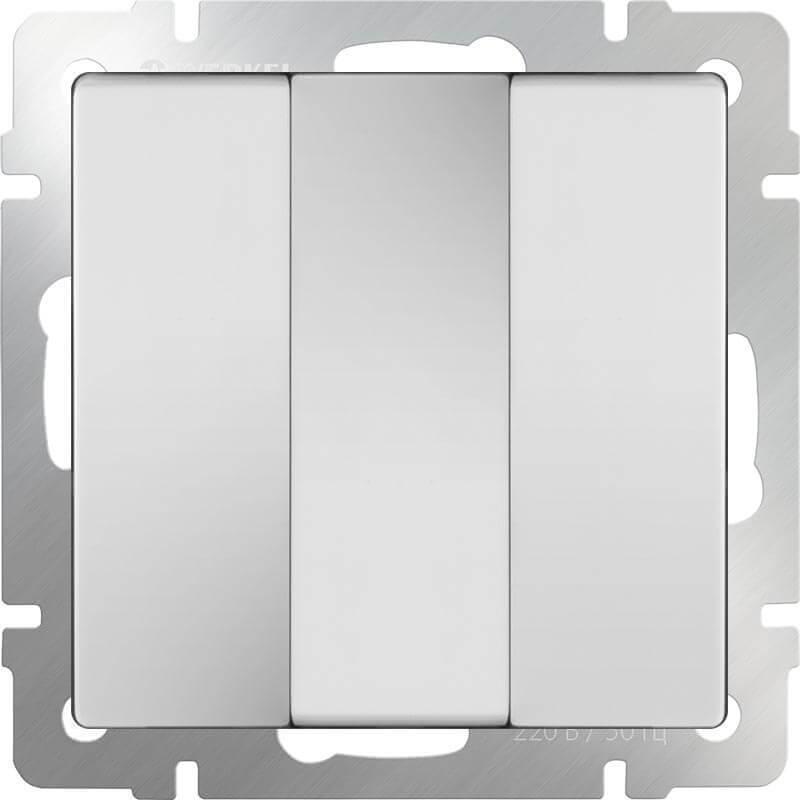 Выключатель трехклавишный Werkel белый WL01-SW-3G 4690389073427