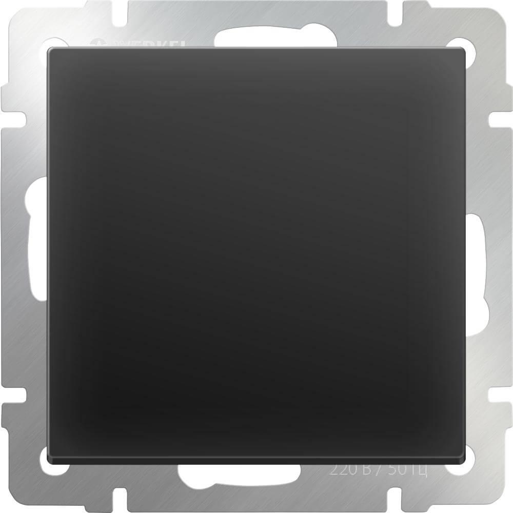 Перекрестный переключатель одноклавишный Werkel черный матовый WL08-SW-1G-C 4690389073618