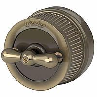 Выключатель Werkel на 4 положения двухклавишный Retro бронзовый WL19-01-05 4690389143366