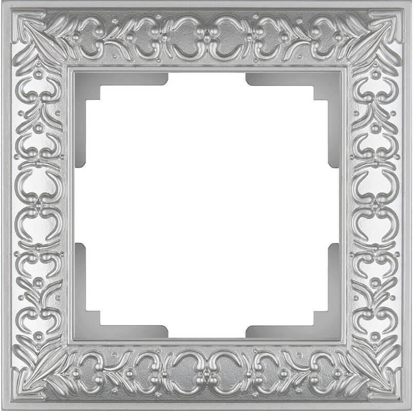 Рамка Werkel Antik на 1 пост жемчужный WL07-Frame-01 4690389063497
