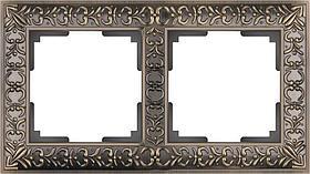 Рамка Werkel Antik на 2 поста бронза WL07-Frame-02 4690389054365