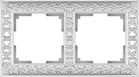 Рамка Werkel Antik на 2 поста жемчужный WL07-Frame-02 4690389063503