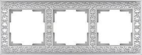 Рамка Werkel Antik на 3 поста жемчужный WL07-Frame-03 4690389063510