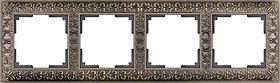 Рамка Werkel Antik на 4 поста бронза WL07-Frame-04 4690389054389