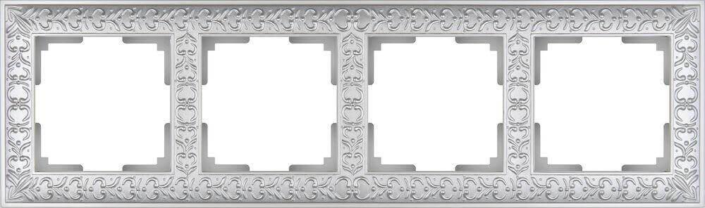 Рамка Werkel Antik на 4 поста жемчужный WL07-Frame-04 4690389063527