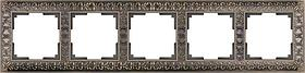 Рамка Werkel Antik на 5 постов бронза WL07-Frame-05 4690389063657