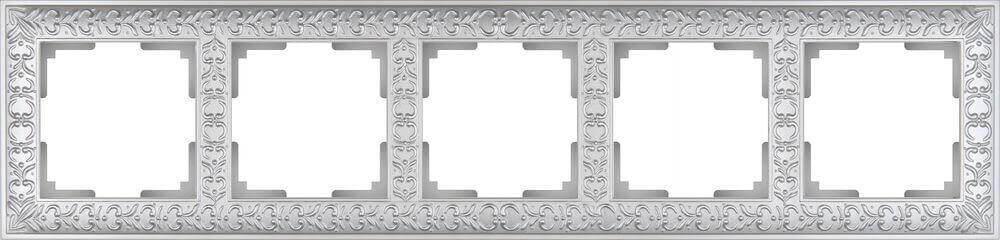 Рамка Werkel Antik на 5 постов жемчужный WL07-Frame-05 4690389063534