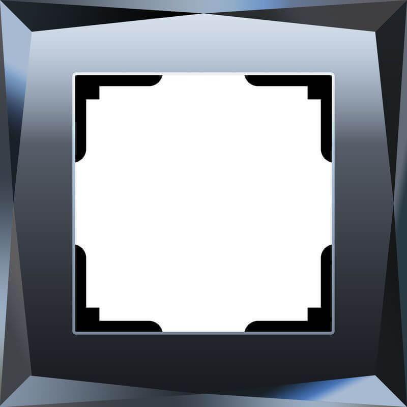 Рамка Werkel Diamant на 1 пост черный WL08-Frame-01 4690389054396