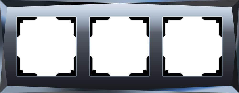 Рамка Werkel Diamant на 3 поста черный WL08-Frame-03 4690389054419
