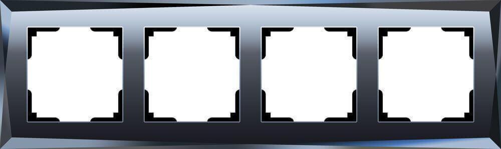 Рамка Werkel Diamant на 4 поста черный WL08-Frame-04 4690389054426