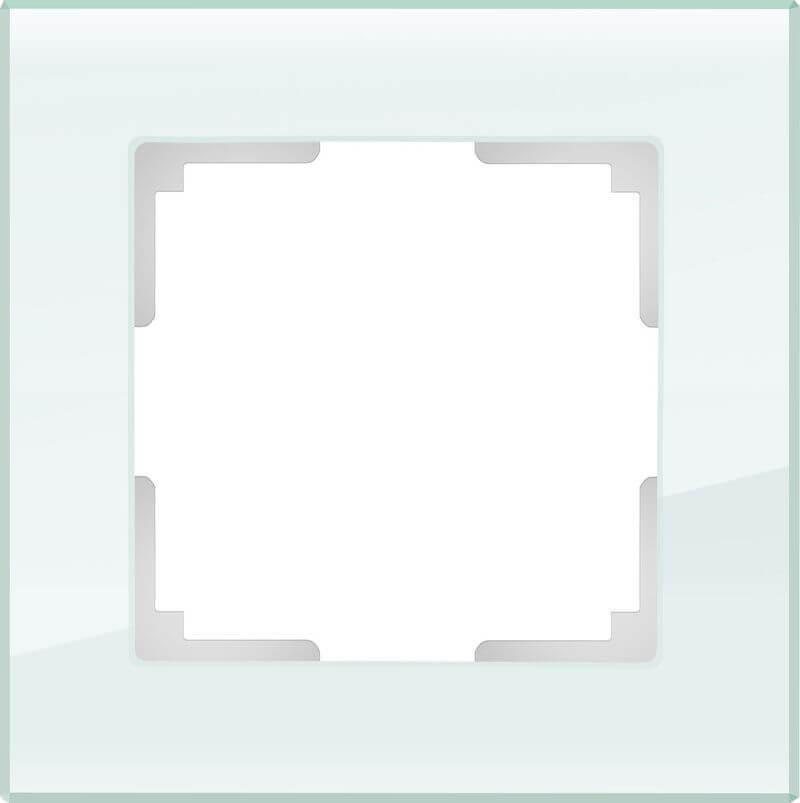 Рамка Werkel Favorit на 1 пост натуральное стекло WL01-Frame-01 4690389060168