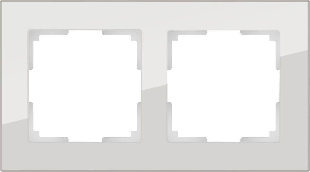 Рамка Werkel Favorit на 2 поста дымчатый WL01-Frame-02 4690389061318