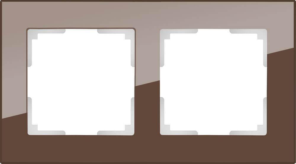 Рамка Werkel Favorit на 2 поста мокко WL01-Frame-02 4690389063756