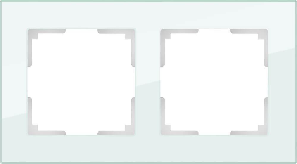Рамка Werkel Favorit на 2 поста натуральное стекло WL01-Frame-02 4690389060175
