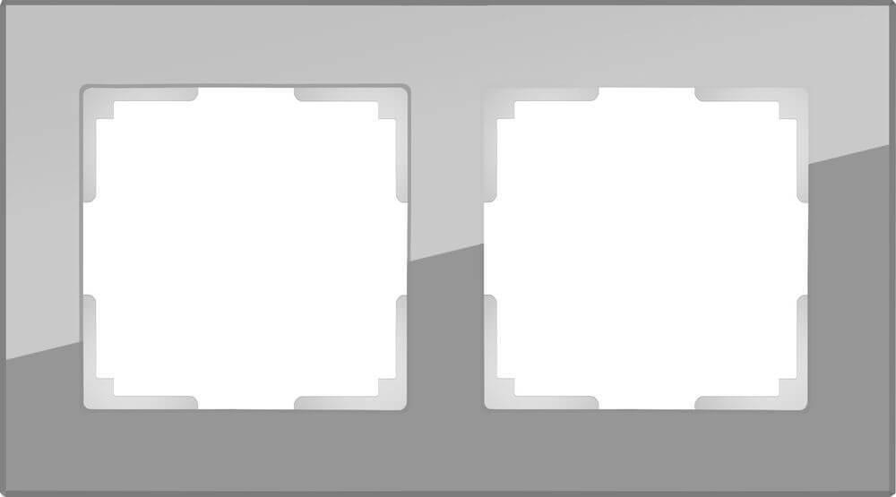 Рамка Werkel Favorit на 2 поста серый WL01-Frame-02 4690389061264