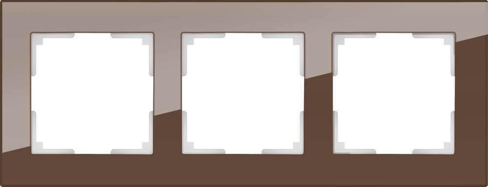 Рамка Werkel Favorit на 3 поста мокко WL01-Frame-03 4690389063763