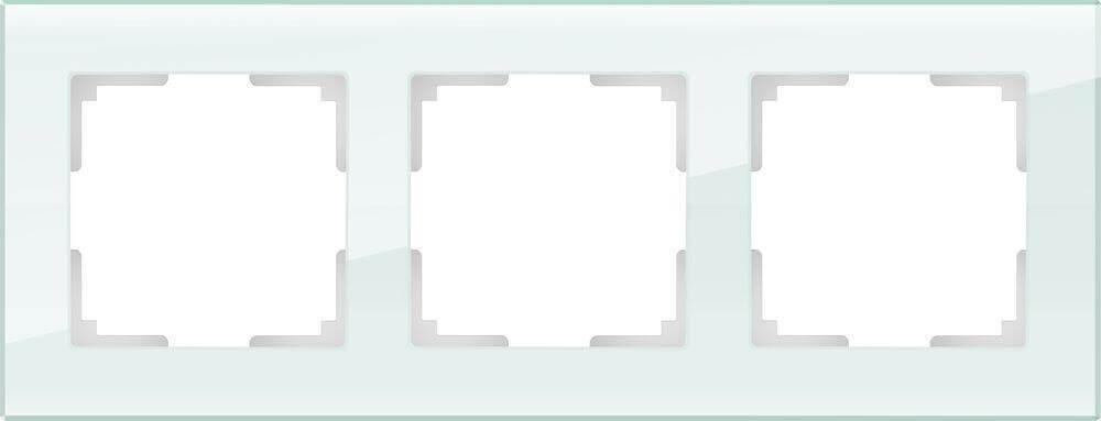 Рамка Werkel Favorit на 3 поста натуральное стекло WL01-Frame-03 4690389060182