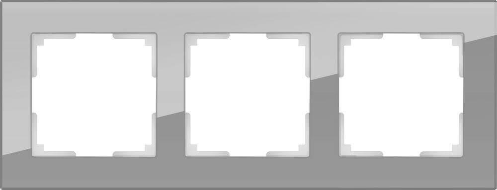 Рамка Werkel Favorit на 3 поста серый WL01-Frame-03 4690389061271