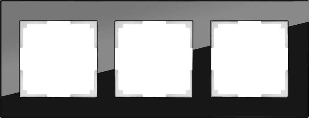 Рамка Werkel Favorit на 3 поста черный WL01-Frame-03 4690389063411