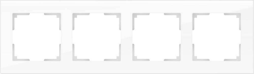 Рамка Werkel Favorit на 4 поста белый WL01-Frame-04 4690389061233