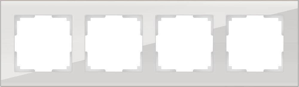 Рамка Werkel Favorit на 4 поста дымчатый WL01-Frame-04 4690389061332