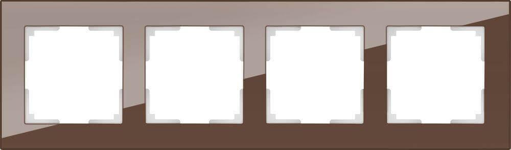 Рамка Werkel Favorit на 4 поста мокко WL01-Frame-04 4690389063770