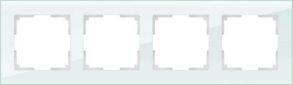 Рамка Werkel Favorit на 4 поста натуральное стекло WL01-Frame-04 4690389060199
