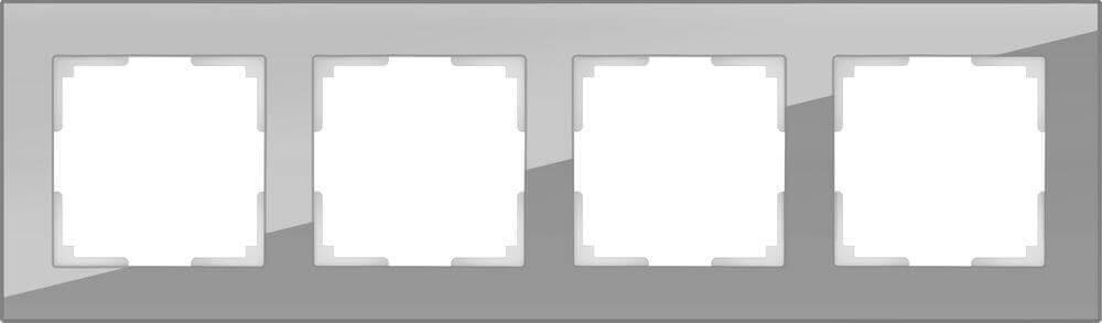 Рамка Werkel Favorit на 4 поста серый WL01-Frame-04 4690389061288