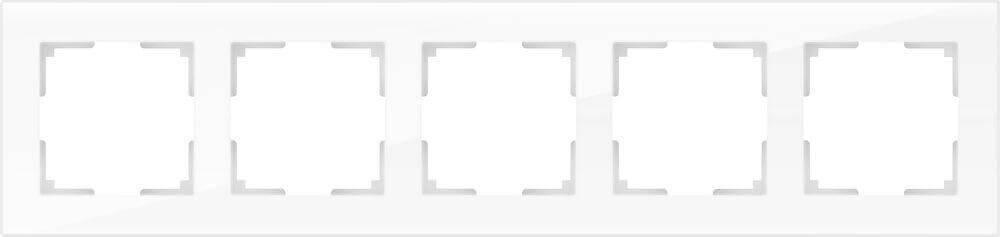 Рамка Werkel Favorit на 5 постов белый WL01-Frame-05 4690389061240