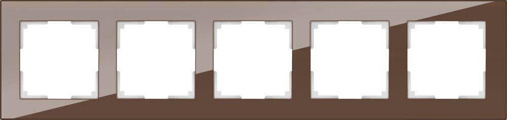 Рамка Werkel Favorit на 5 постов мокко WL01-Frame-05 4690389063787