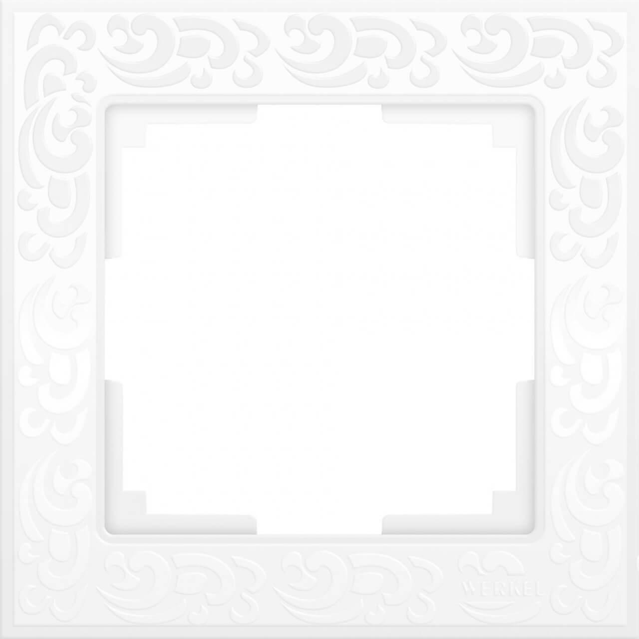 Рамка Werkel Flock на 1 пост белая WL05-Frame-01-white 4690389046704