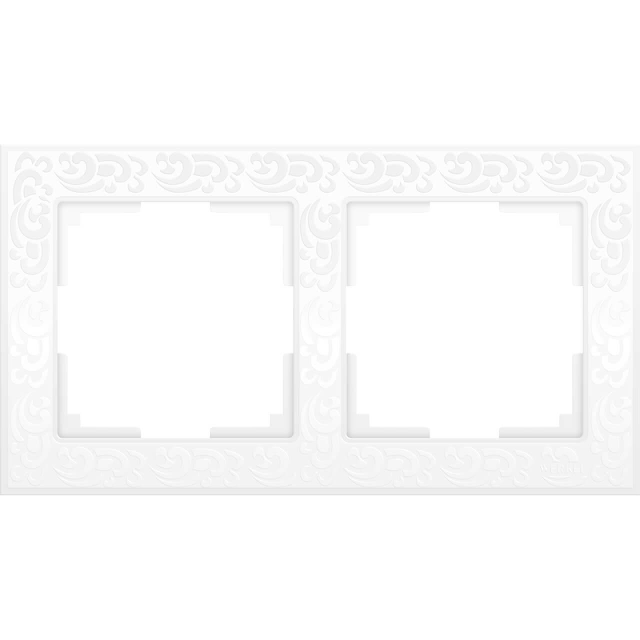 Рамка Werkel Flock на 2 поста белая WL05-Frame-02-white 4690389046711