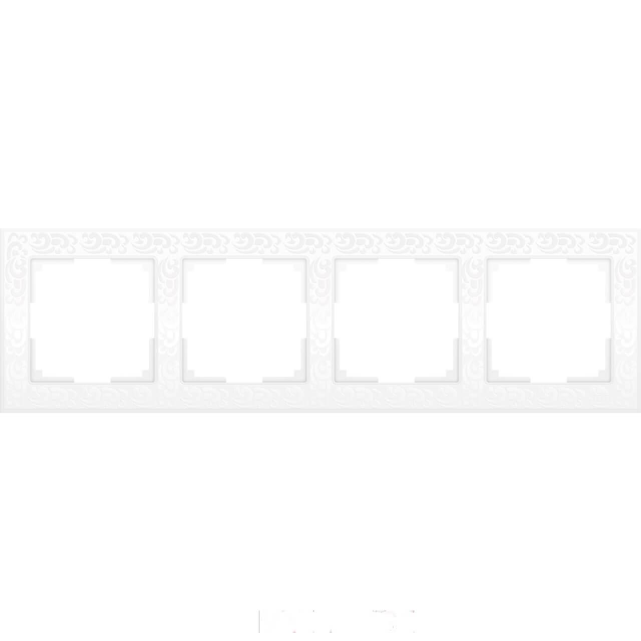 Рамка Werkel Flock на 4 поста белая WL05-Frame-04-white 4690389046735
