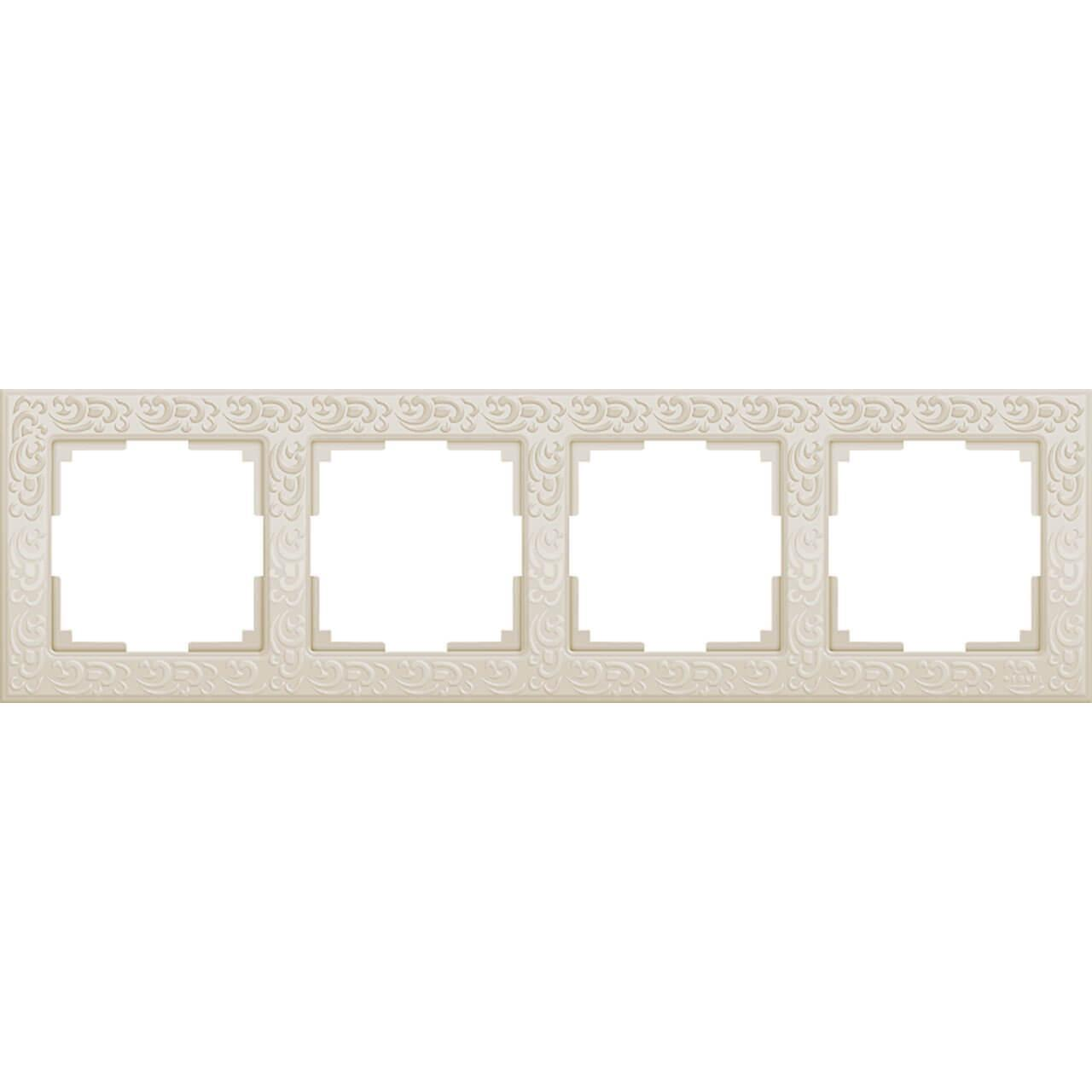 Рамка Werkel Flock на 4 поста слоновая кость WL05-Frame-04-ivory 4690389046933